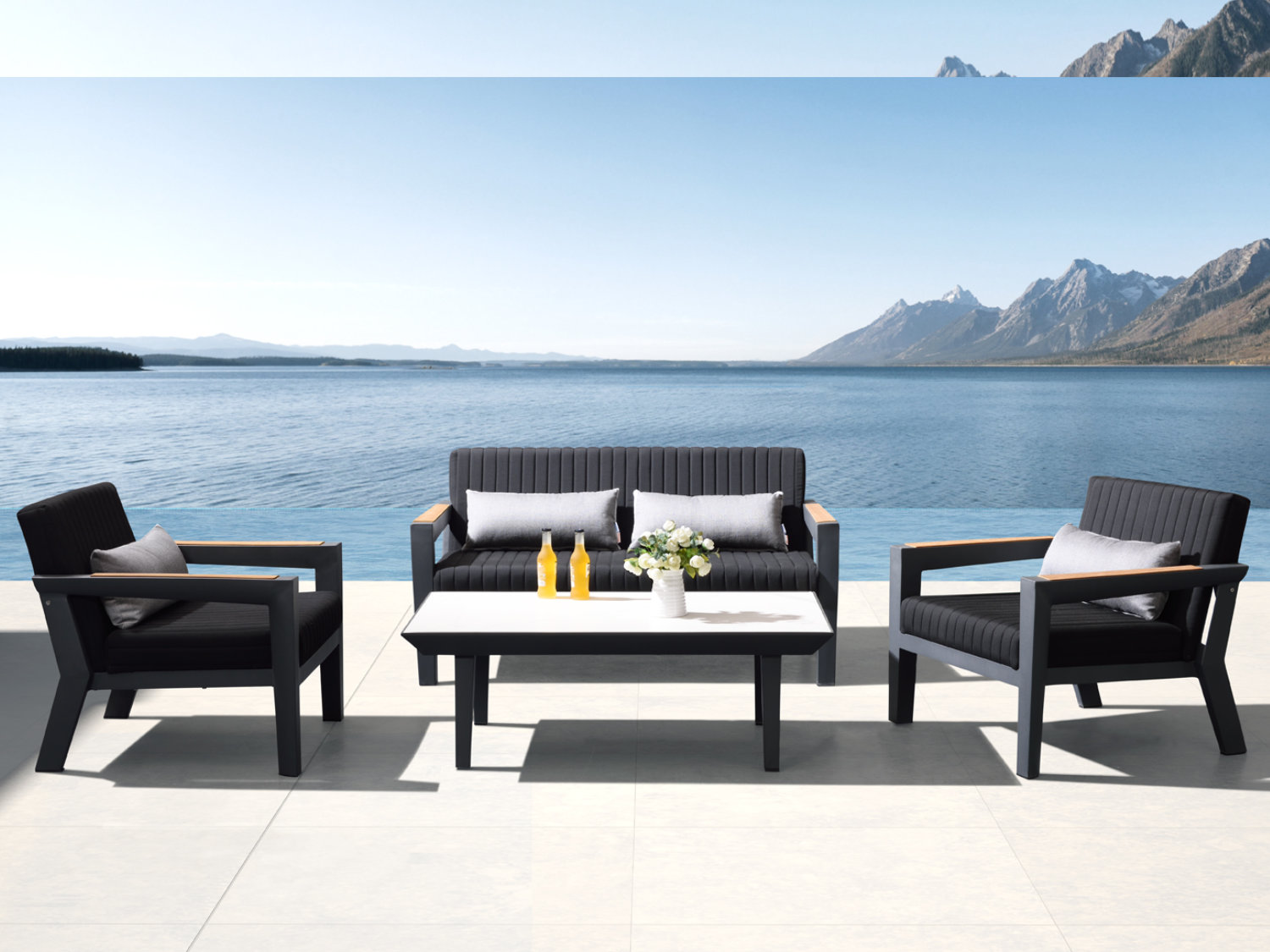 terrassen tische f r den au enbereich outdoor. Black Bedroom Furniture Sets. Home Design Ideas