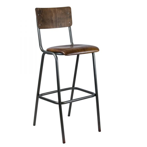 Skool Barstool Beech Wood