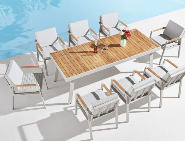 outdoor Dinierest weiss